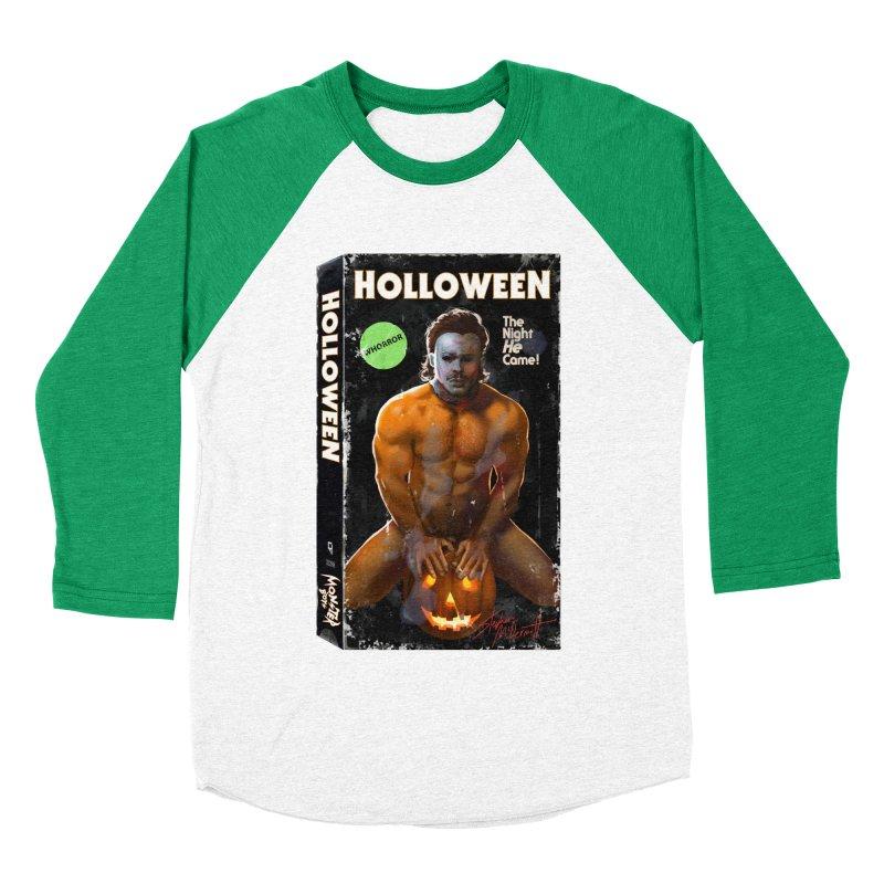 HOLLOWEEN VHS COVER Men's Baseball Triblend Longsleeve T-Shirt by Stephen Draws's Artist Shop