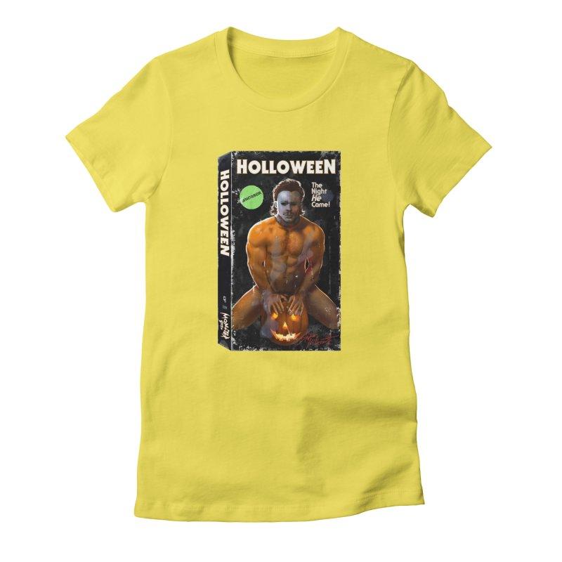 HOLLOWEEN VHS COVER Women's T-Shirt by Stephen Draws's Artist Shop