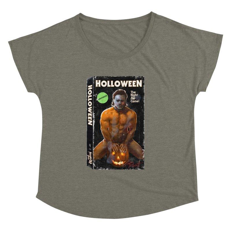 HOLLOWEEN VHS COVER Women's Dolman Scoop Neck by Stephen Draws's Artist Shop