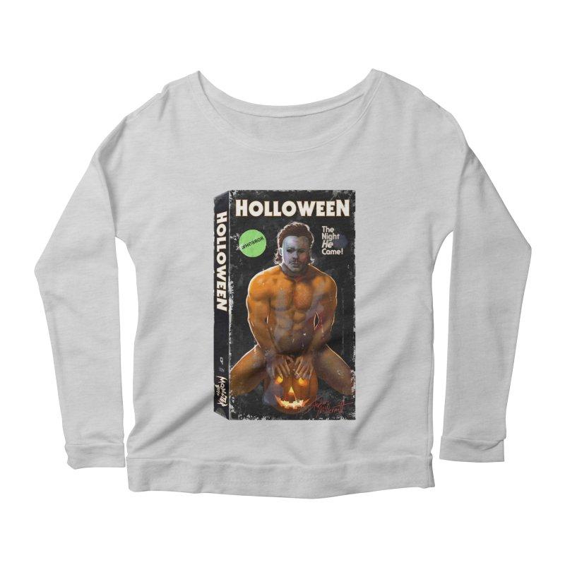 HOLLOWEEN VHS COVER Women's Longsleeve T-Shirt by Stephen Draws's Artist Shop