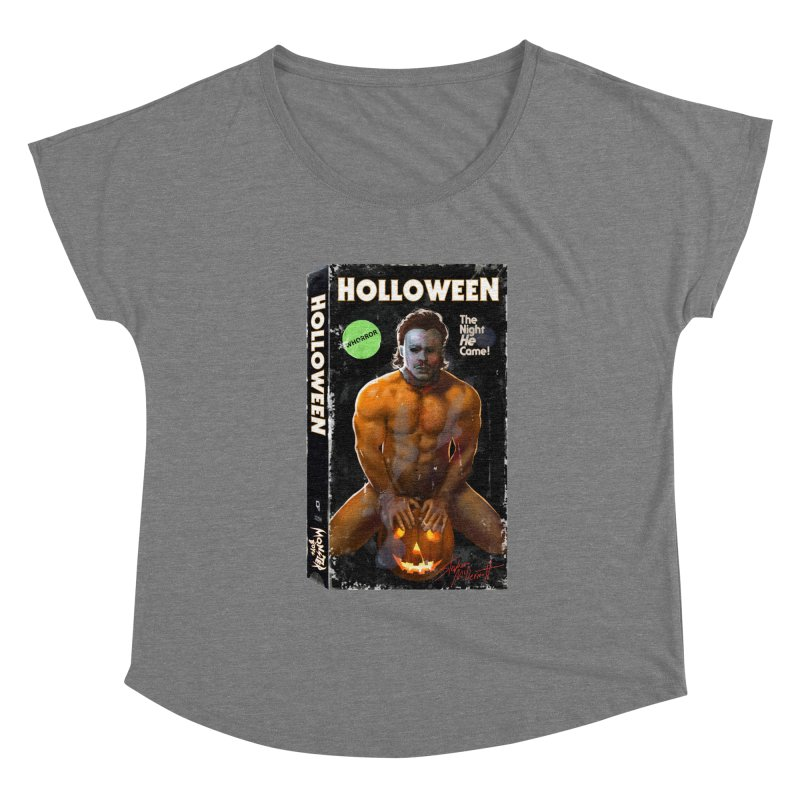 HOLLOWEEN VHS COVER Women's Scoop Neck by Stephen Draws's Artist Shop
