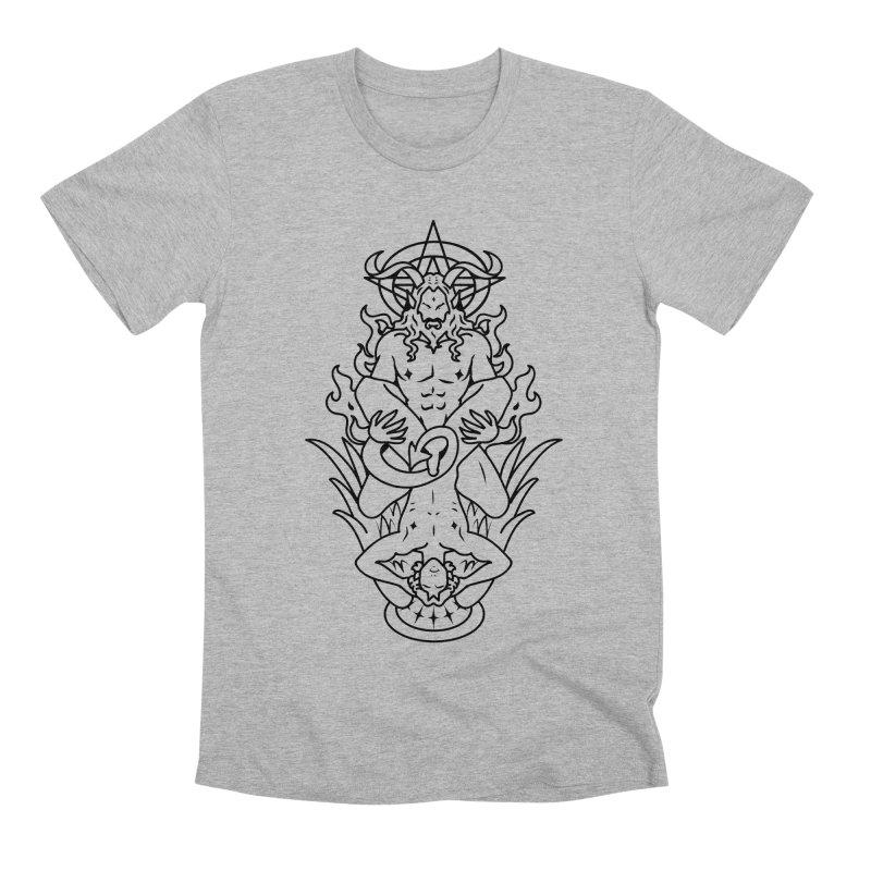 MORNINGSTAR DELIGHT BLACK Men's Premium T-Shirt by Stephen Draws's Artist Shop
