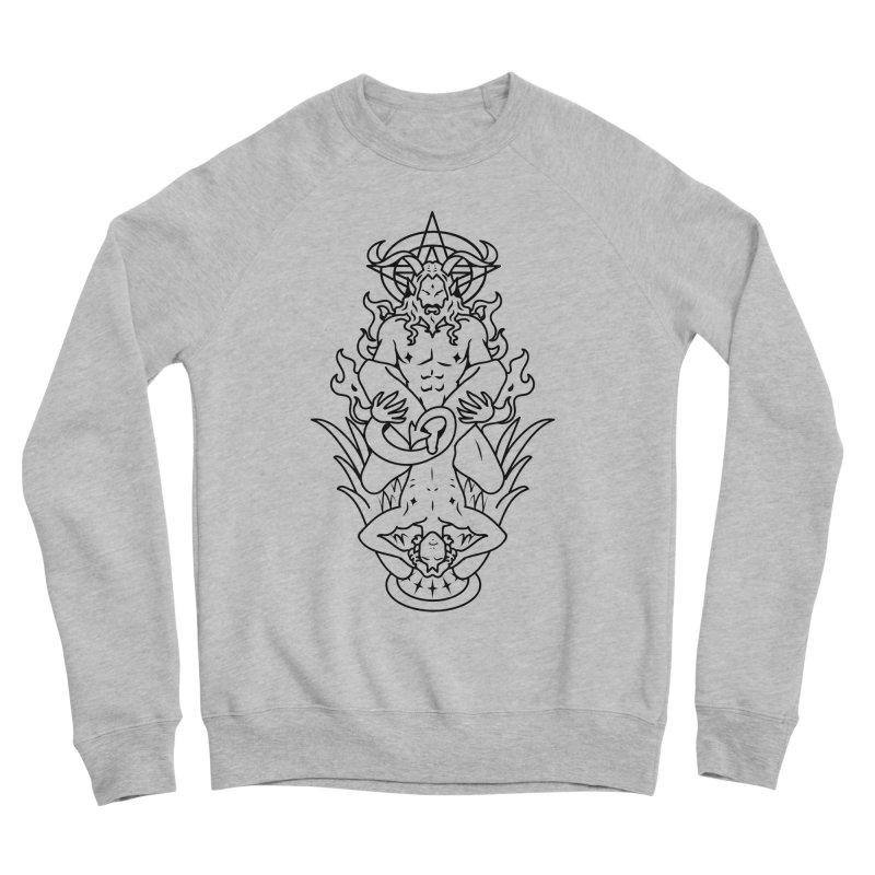 MORNINGSTAR DELIGHT BLACK Men's Sponge Fleece Sweatshirt by Stephen Draws's Artist Shop