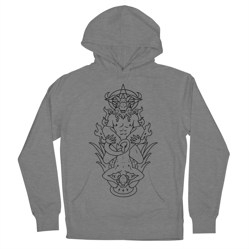 MORNINGSTAR DELIGHT BLACK Women's French Terry Pullover Hoody by Stephen Draws's Artist Shop