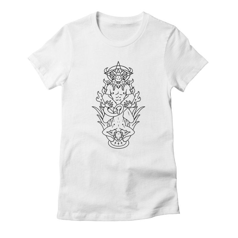 MORNINGSTAR DELIGHT BLACK Women's T-Shirt by Stephen Draws's Artist Shop