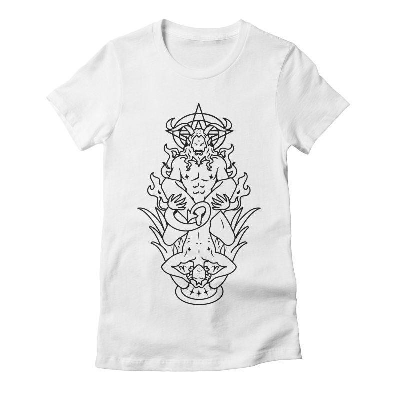 MORNINGSTAR DELIGHT BLACK Women's Fitted T-Shirt by Stephen Draws's Artist Shop