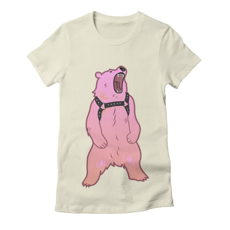 Daddy Bear Women's Fitted T-Shirt by Stephen Draws's Artist Shop