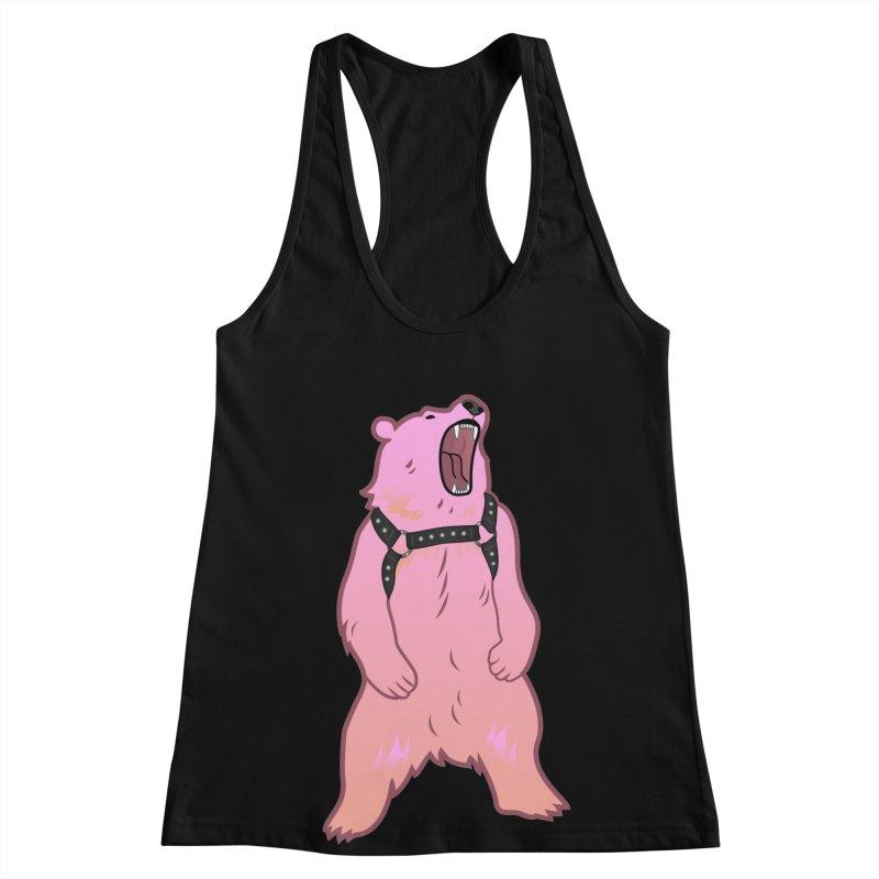 Daddy Bear Women's Racerback Tank by Stephen Draws's Artist Shop