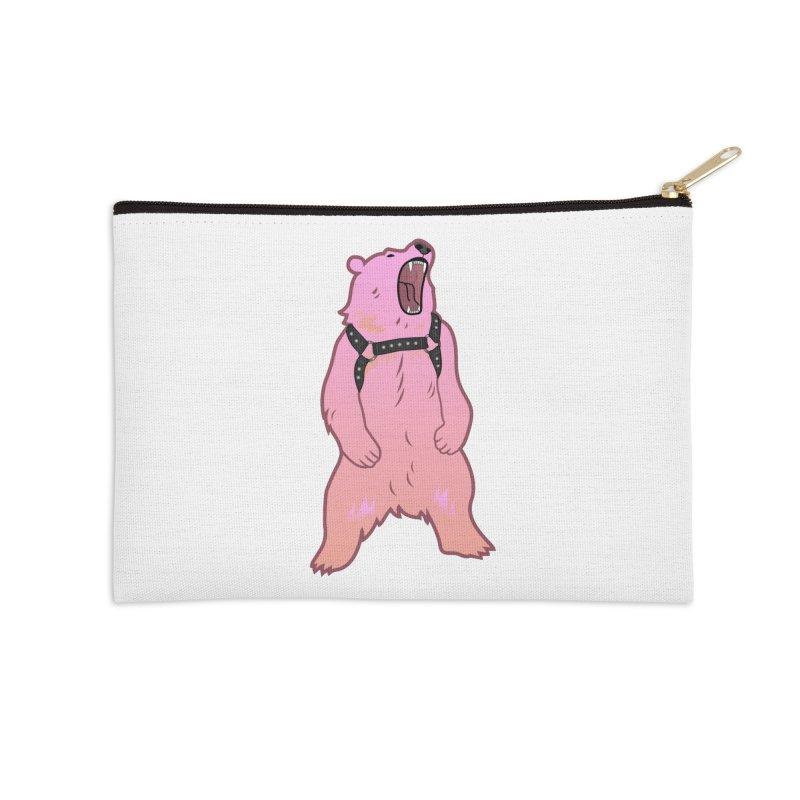 Daddy Bear Accessories Zip Pouch by Stephen Draws's Artist Shop