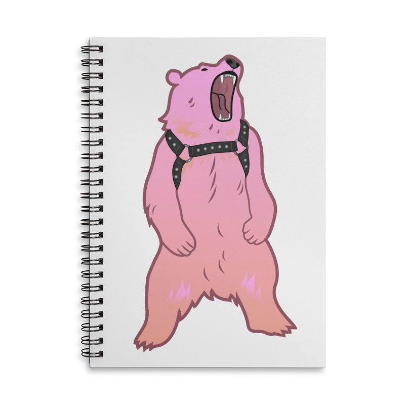 Daddy Bear Accessories Lined Spiral Notebook by Stephen Draws's Artist Shop