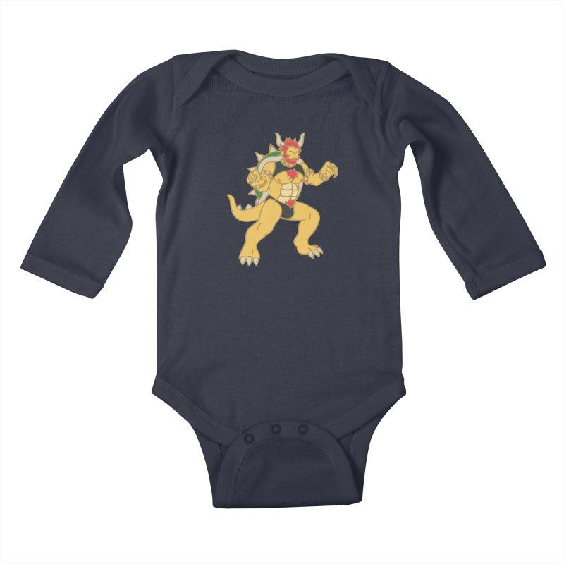 BOWSER Kids Baby Longsleeve Bodysuit by Stephen Draws's Artist Shop