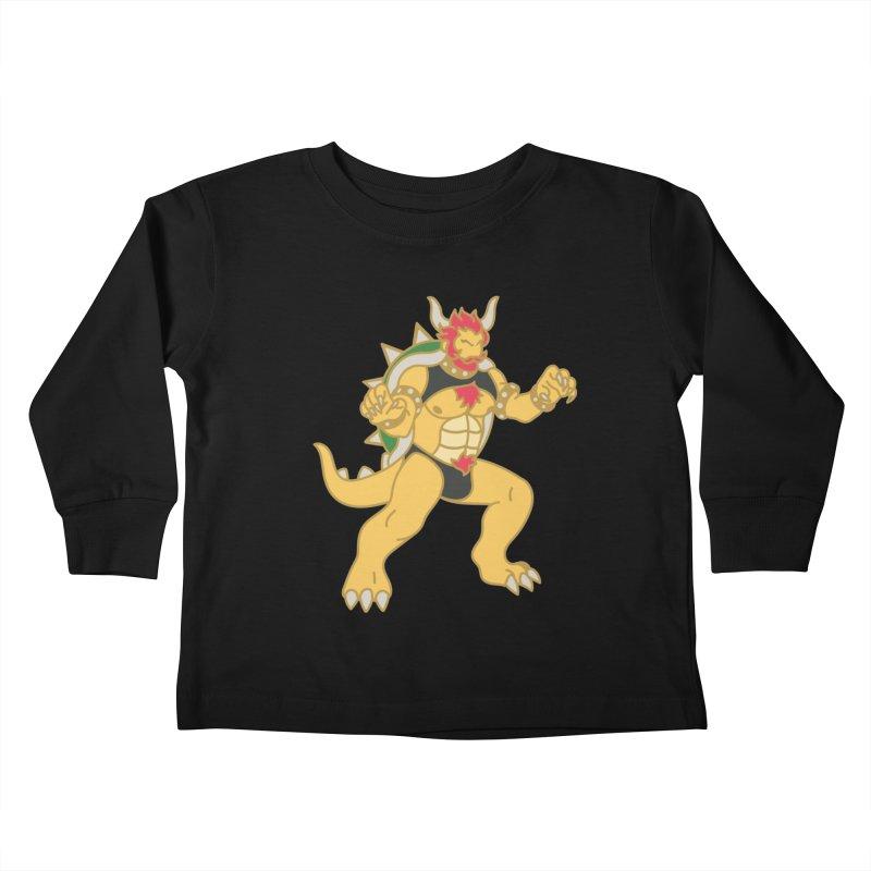 BOWSER Kids Toddler Longsleeve T-Shirt by Stephen Draws's Artist Shop
