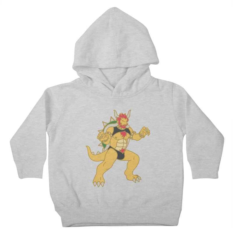 BOWSER Kids Toddler Pullover Hoody by Stephen Draws's Artist Shop