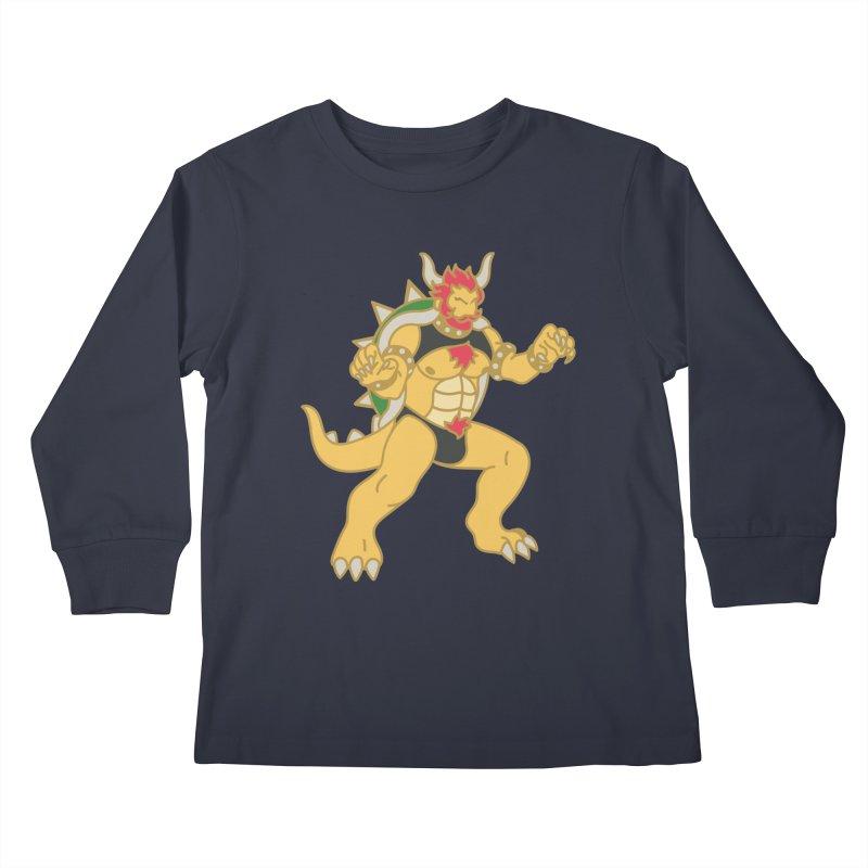 BOWSER Kids Longsleeve T-Shirt by Stephen Draws's Artist Shop