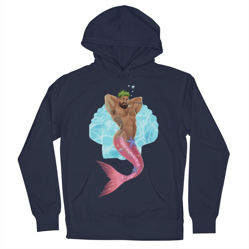 FISH TRADE Men's French Terry Pullover Hoody by Stephen Draws's Artist Shop