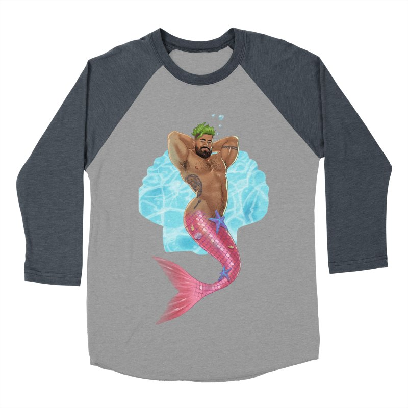 FISH TRADE Men's Baseball Triblend Longsleeve T-Shirt by stephendraws's Artist Shop