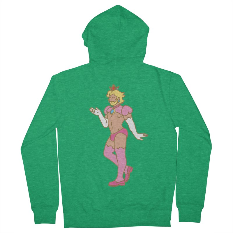 Prince Peach Men's Zip-Up Hoody by Stephen Draws's Artist Shop