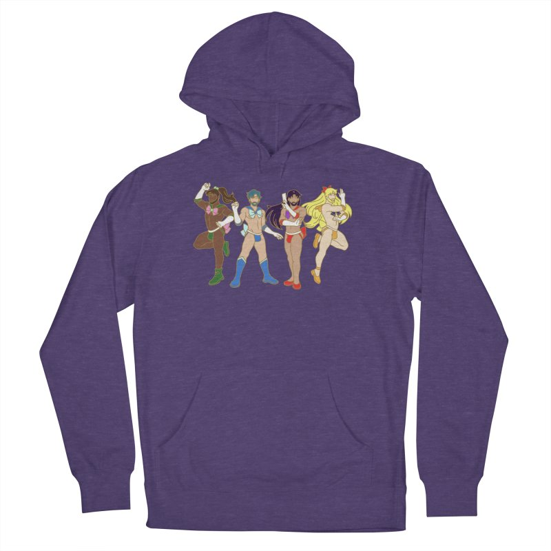 Inner Sailor Scouts Men's French Terry Pullover Hoody by Stephen Draws's Artist Shop
