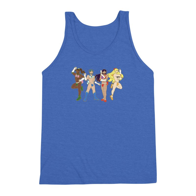 Inner Sailor Scouts Men's Triblend Tank by Stephen Draws's Artist Shop