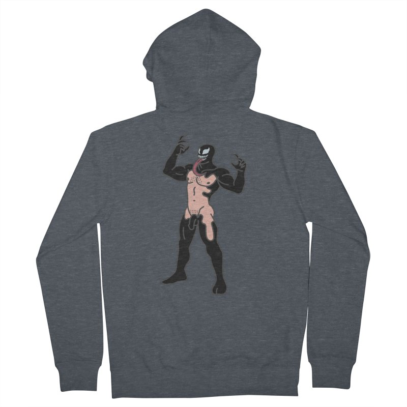 Venom Men's French Terry Zip-Up Hoody by Stephen Draws's Artist Shop