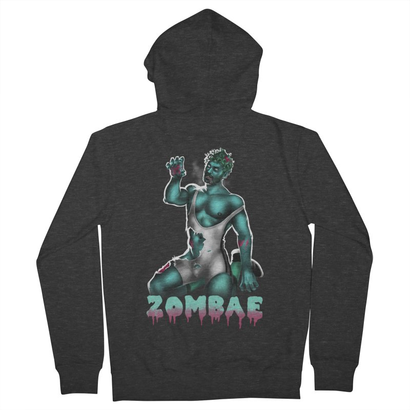 Zombae Men's French Terry Zip-Up Hoody by Stephen Draws's Artist Shop