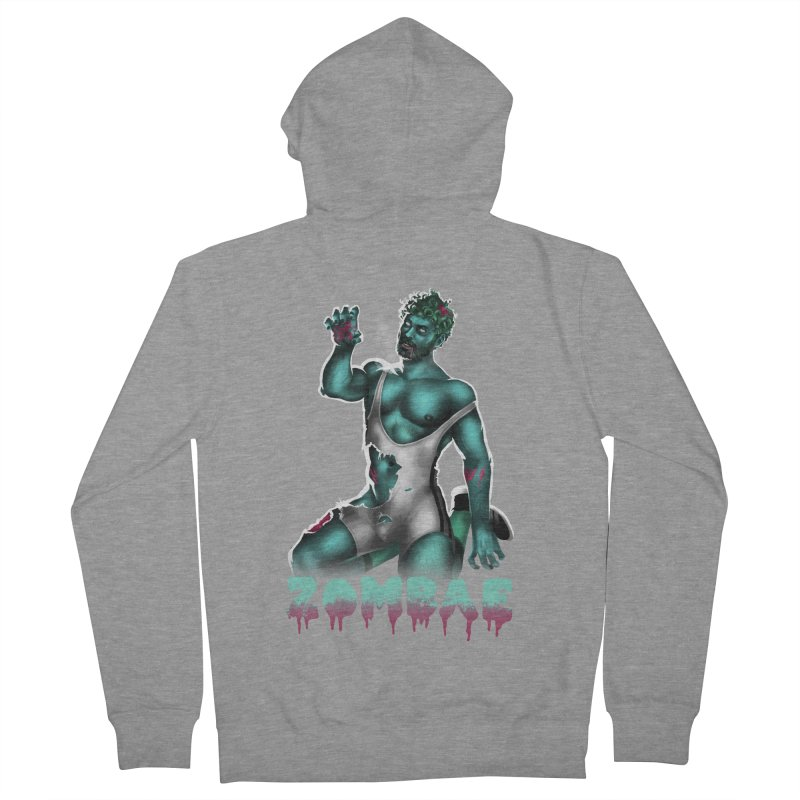 Zombae Men's French Terry Zip-Up Hoody by stephendraws's Artist Shop