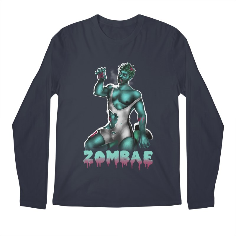 Zombae Men's Regular Longsleeve T-Shirt by Stephen Draws's Artist Shop