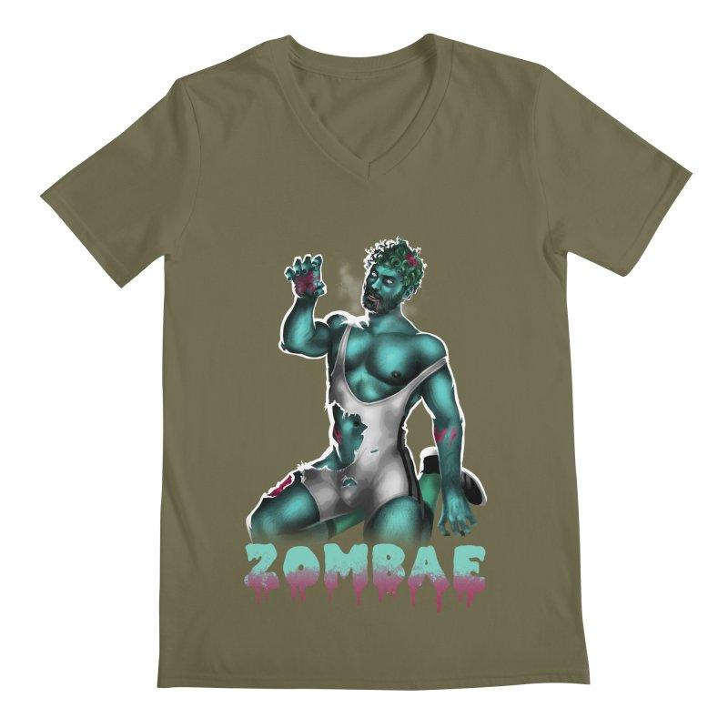 Zombae Men's Regular V-Neck by stephendraws's Artist Shop