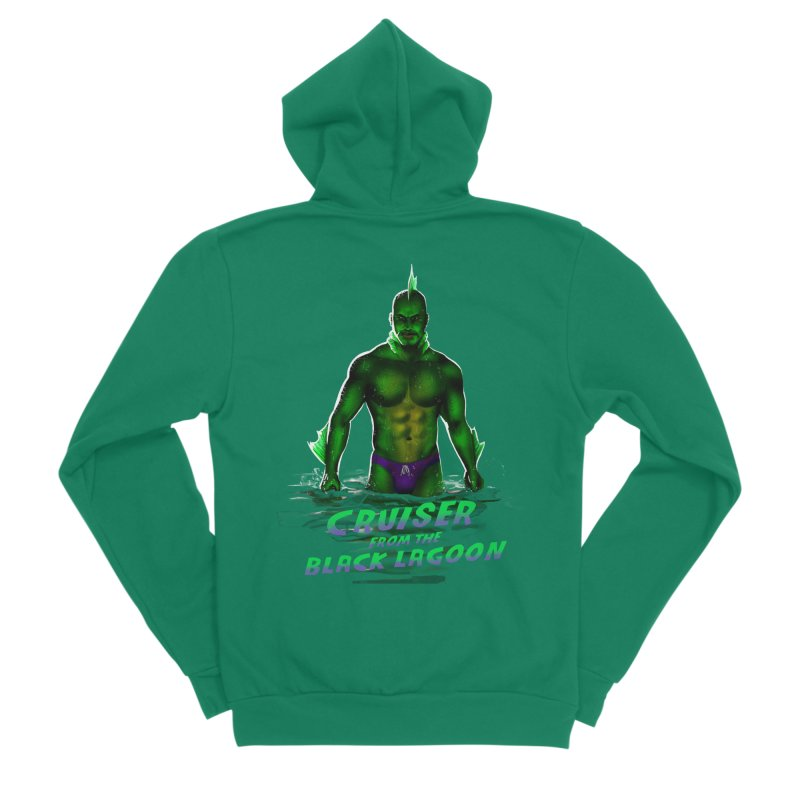 Cruiser From The Black Lagoon Men's Sponge Fleece Zip-Up Hoody by stephendraws's Artist Shop