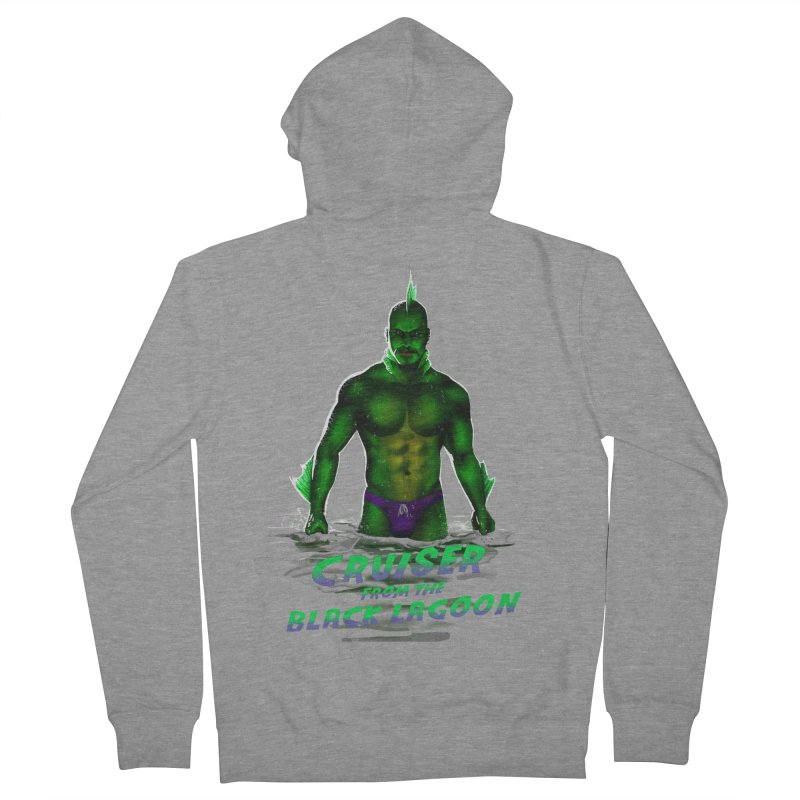 Cruiser From The Black Lagoon Men's French Terry Zip-Up Hoody by Stephen Draws's Artist Shop