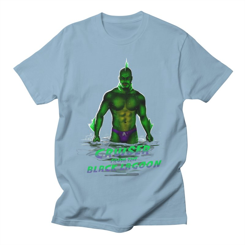 Cruiser From The Black Lagoon Men's Regular T-Shirt by Stephen Draws's Artist Shop