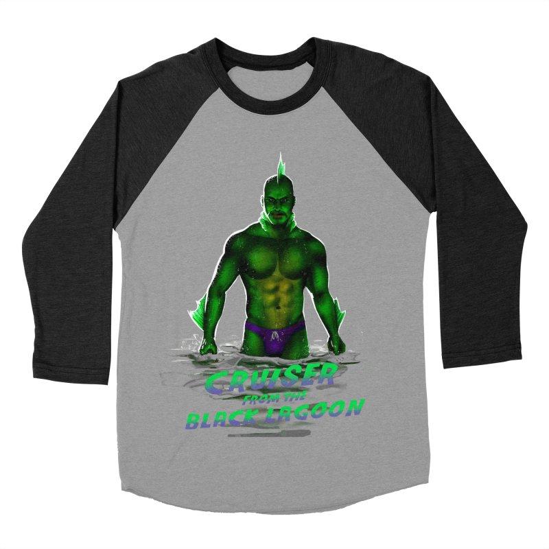 Cruiser From The Black Lagoon Men's Baseball Triblend Longsleeve T-Shirt by stephendraws's Artist Shop