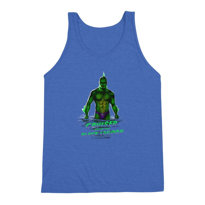 Cruiser From The Black Lagoon Men's Triblend Tank by Stephen Draws's Artist Shop