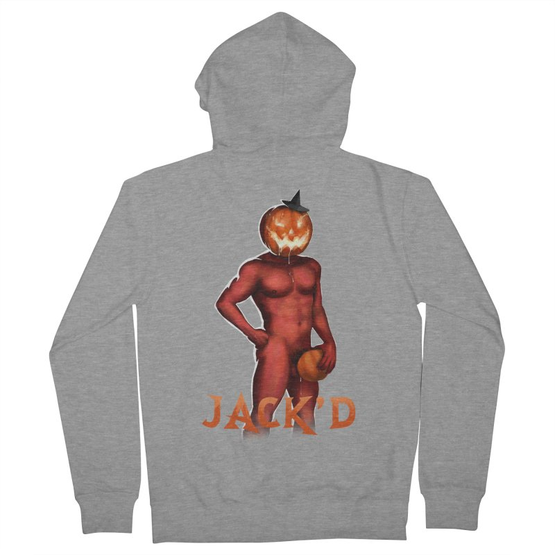 Jack'd The Headless Jock Men's French Terry Zip-Up Hoody by Stephen Draws's Artist Shop
