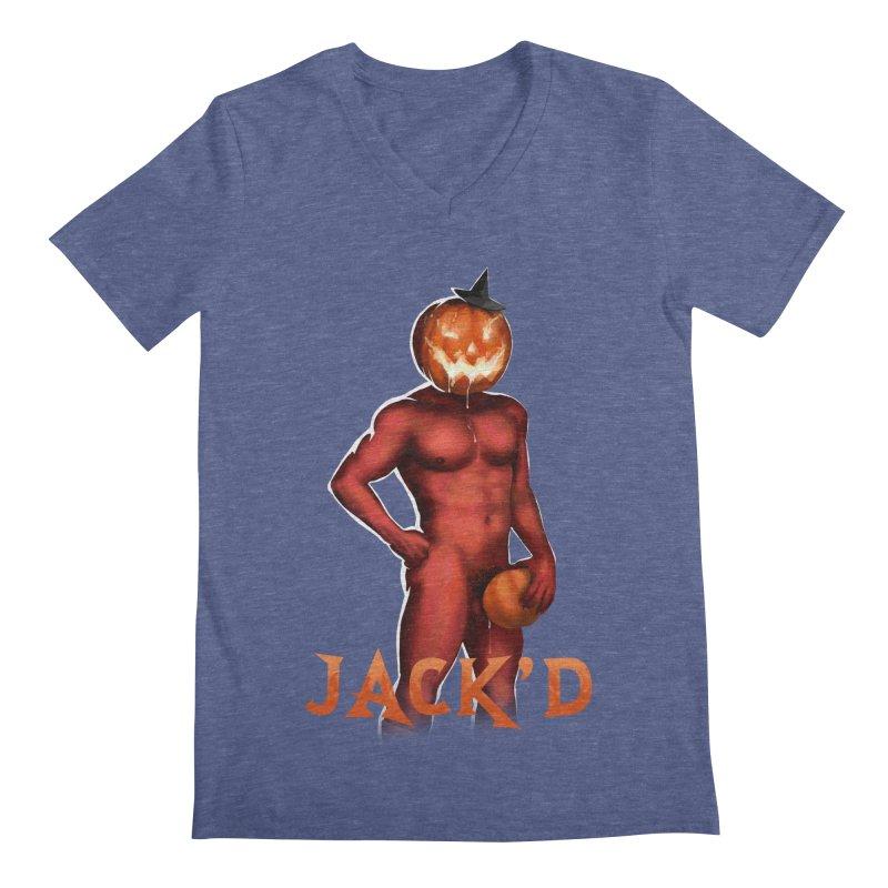 Jack'd The Headless Jock Men's Regular V-Neck by stephendraws's Artist Shop