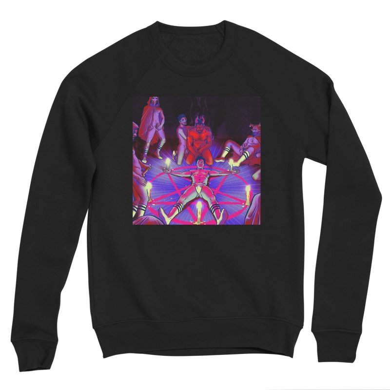I JOINED A CULT Men's Sponge Fleece Sweatshirt by Stephen Draws's Artist Shop