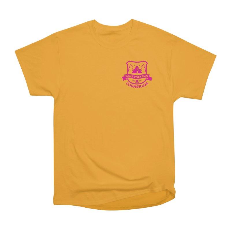 CAMP COCKALOT COUNSELLOR Men's Heavyweight T-Shirt by Stephen Draws's Artist Shop