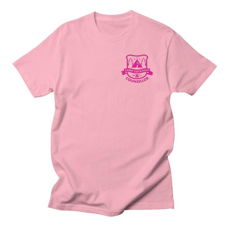 CAMP COCKALOT COUNSELLOR Men's Regular T-Shirt by Stephen Draws's Artist Shop