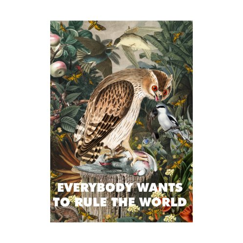 Design for Everybody wants to rule the world (white text)