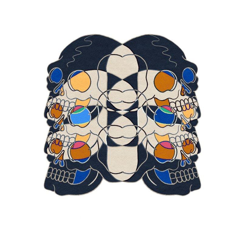 Psychedelic skulls Men's T-Shirt by stephenflashart's Artist Shop