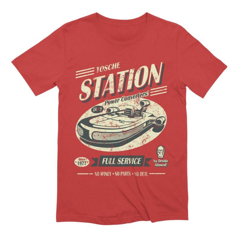 Tosche Station Men's Extra Soft T-Shirt by Stephen Hartman Illustration Shop