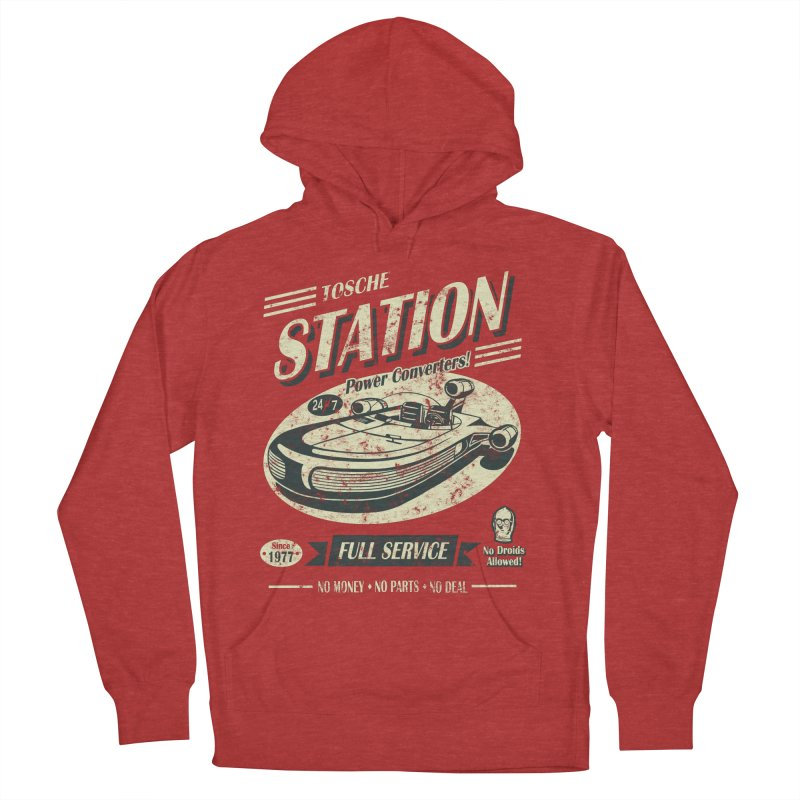 Tosche Station Men's French Terry Pullover Hoody by Stephen Hartman Illustration Shop