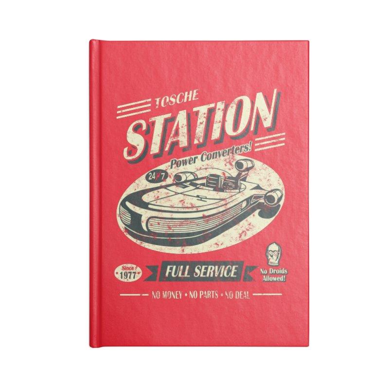 Tosche Station Accessories Blank Journal Notebook by Stephen Hartman Illustration Shop