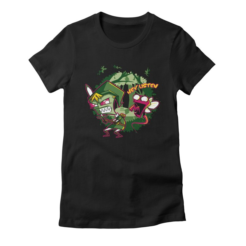 The Legend of Zim Women's Fitted T-Shirt by Stephen Hartman Illustration Shop