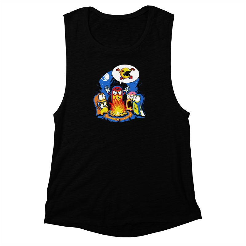 8-Bit Horror Women's Muscle Tank by Stephen Hartman Illustration Shop