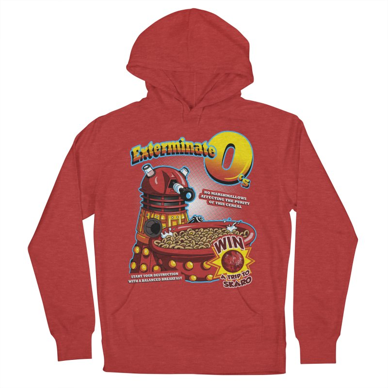 Exterminate O's Men's French Terry Pullover Hoody by Stephen Hartman Illustration Shop