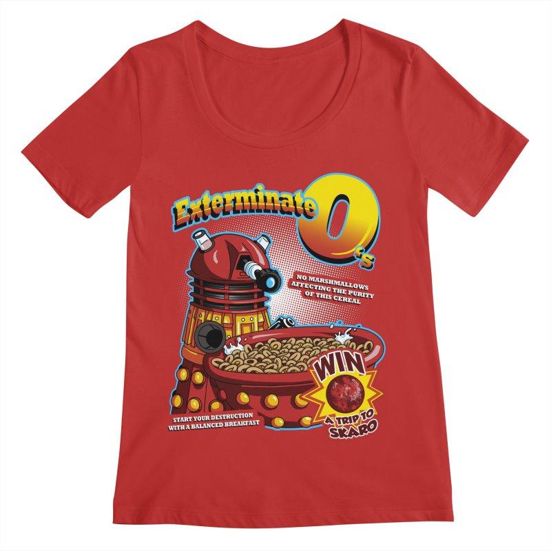 Exterminate O's Women's Regular Scoop Neck by Stephen Hartman Illustration Shop