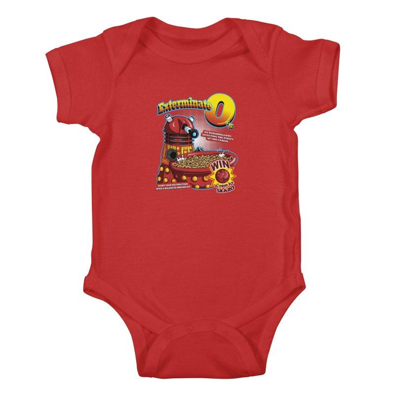 Exterminate O's Kids Baby Bodysuit by Stephen Hartman Illustration Shop