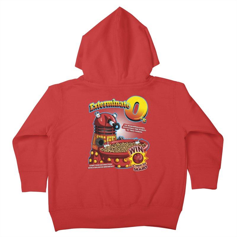 Exterminate O's Kids Toddler Zip-Up Hoody by Stephen Hartman Illustration Shop