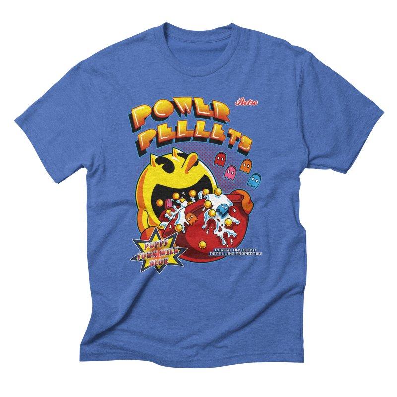 Power Pellets Men's Triblend T-Shirt by Stephen Hartman Illustration Shop
